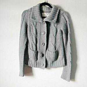 5/$15 American Eagle W Small Gray Button Sweater